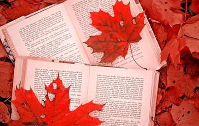 Books and maple leafs